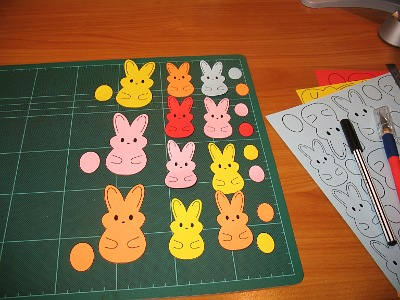 cut out lots of cute bunnies