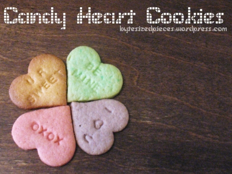 candy heart cookies