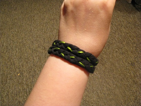 braided t-shirt bracelet