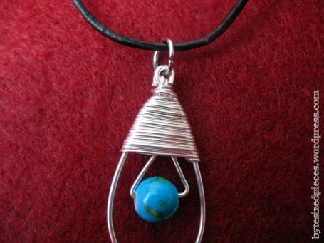 wrapped teardrop pendant